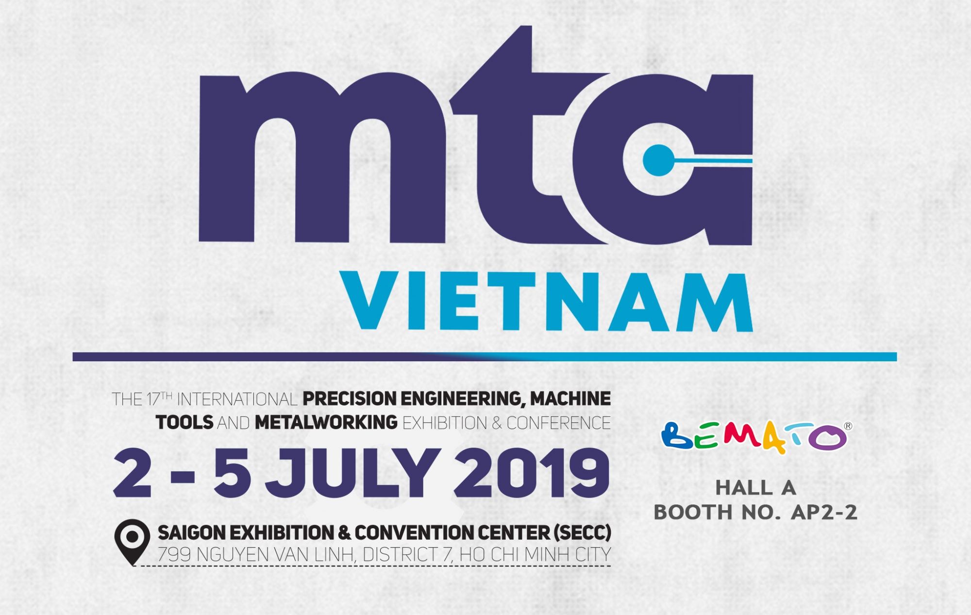 2019 MTA VIETNAM Exhibition in SECC, Ho Chi Minh City