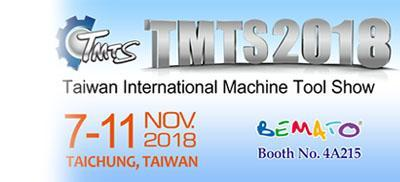 2018 TMTS exhibition in Taichung, Taiwan from Nov. 7th to 11th, 2018