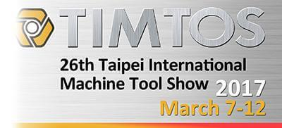 2017 TIMTOS Taipei International Machine Tool Show from March 7th to 12th, 2017