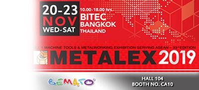 2019 METALMEX Exhibition in BITEC Bangkok, Thailand from Nov. 20th to 23rd, 2019