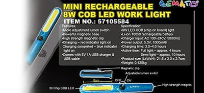 New Product - COB LED Light & LED Rechargeable Work Light