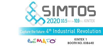 2020 SIMTOS Exhibition in Seoul, Korea from Oct. 5th to 9th, 2020