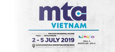 2019 MTA VIETNAM Exhibition in SECC, Ho Chi Minh City, Vietnam, from July 2nd to 5th, 2019