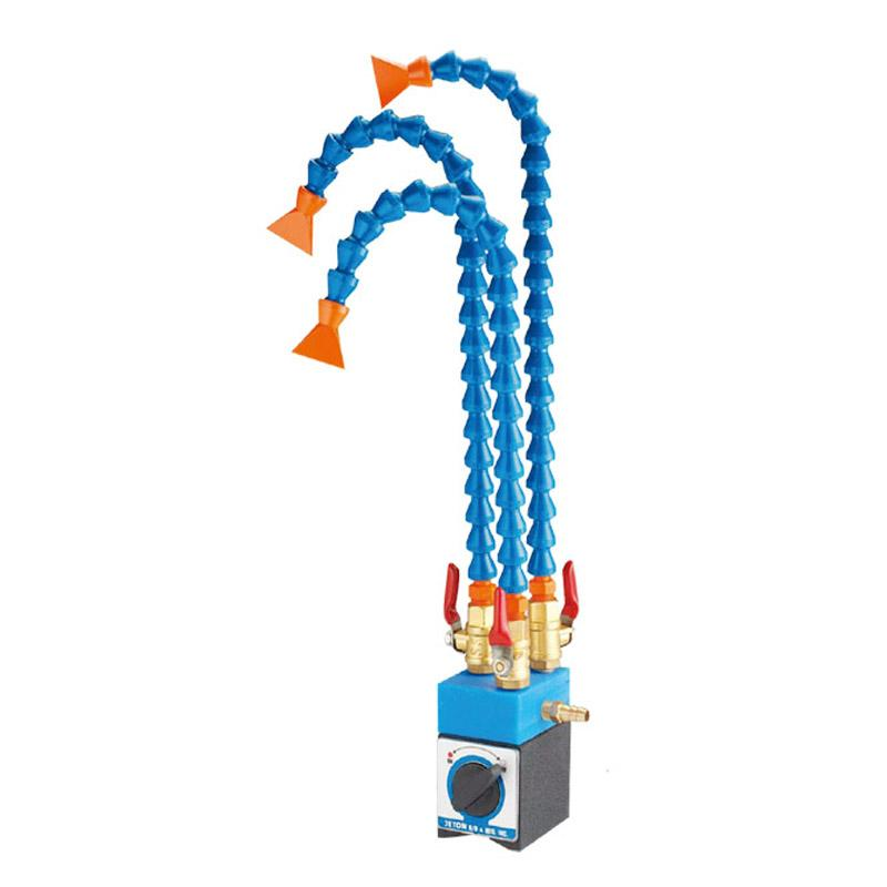 MAGNETIC BASE WITH ADJUSTABLE COOLANT HOSES & VALVES