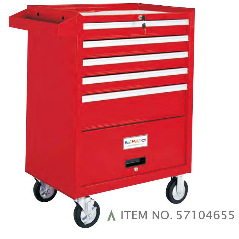 5-DRAWER ROLL-WAGON WITH BULK STORAGE COMPARTMENT BALL BEARING SLIDES
