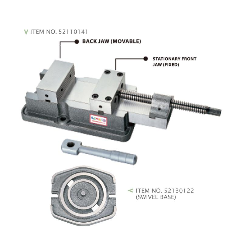 HEAVY DUTY PRECISION MILLING VISE (W/ OR W/O SWIVEL BASE)