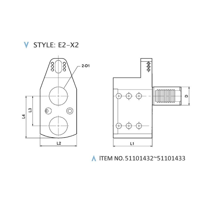 DIN 69880 STATIC HOLDERS (STYLE: E2-X2)