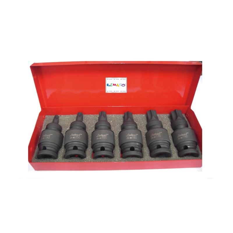 "1/2"" DR. 7PC UNIVERSAL JOINT EXTERNAL STAR BIT IMPACT SOCKET SET"