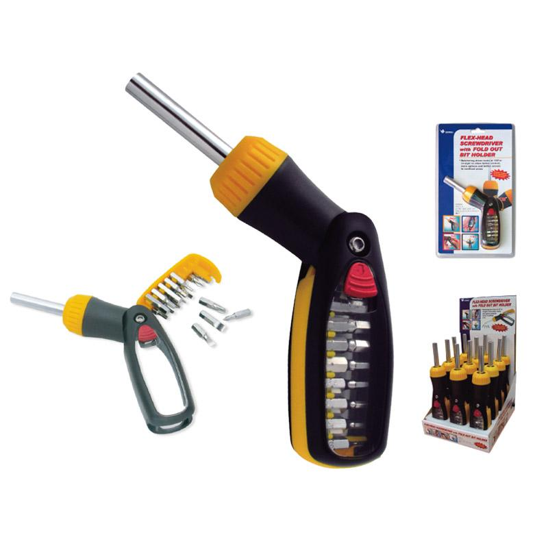 16 - IN - 1  3 WAY RATCHET SCREWDRIVER