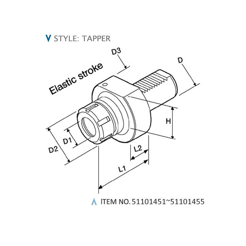DIN 69880 STATIC HOLDERS (STYLE: TAPPER)
