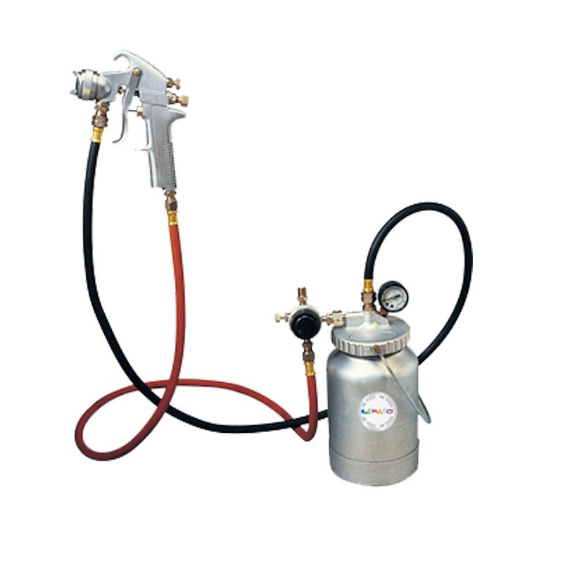 AIR SPRAY GUN KIT WITH 2 QUART CUP