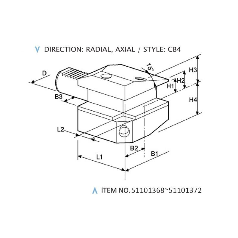 DIN 69880 COMBINED STATIC HOLDERS (STYLE: CB4)