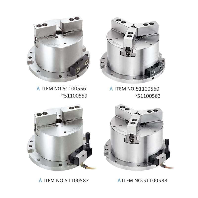 2-JAW / 3-JAW HOLLOW POWER CHUCK FIXTURES