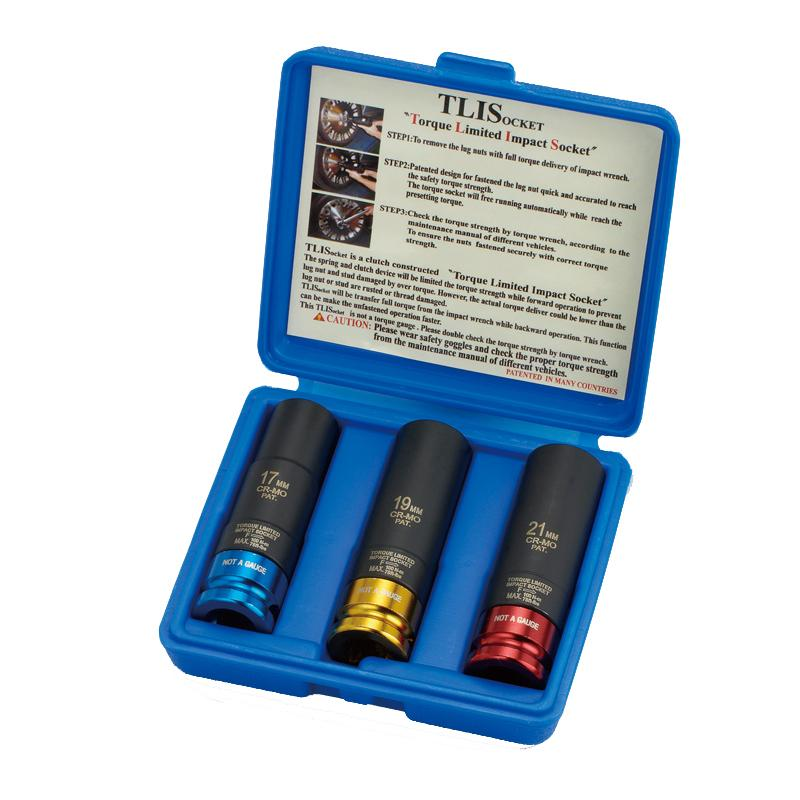 "1/2"" DR. TORQUE LIMITED IMPACT SOCKET SET"