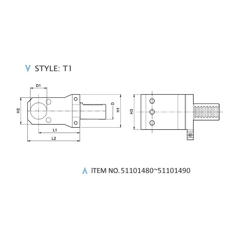 DIN 69880 AXIAL STATIC HOLDERS (STYLE: T1)