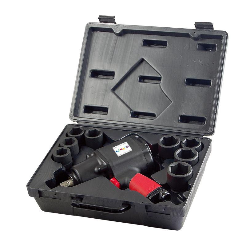 "3/4"" AIR COMPOSITE IMPACT WRENCH KIT (14PCS)"