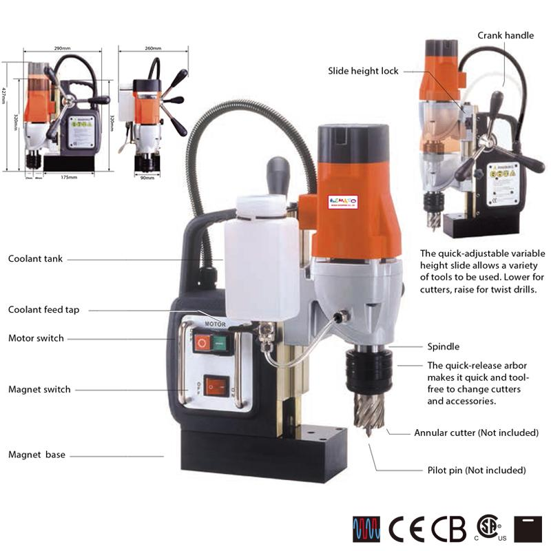 1 SPEED MAGNETIC DRILLING MACHINE