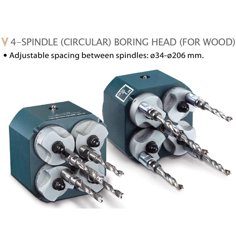 MULTIPLE SPINDLE BORING HEADS FOR WOOD