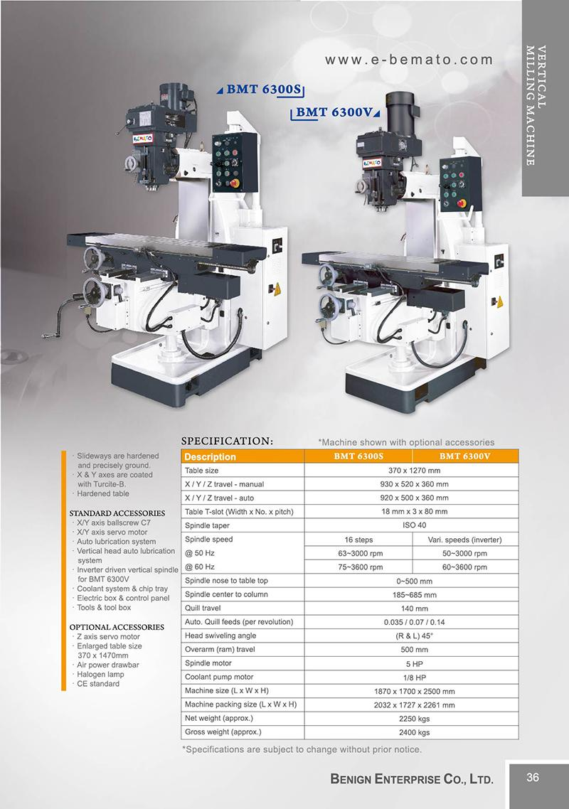 Vertical Milling Machine-BEMATO - Benign Enterprise Co , LTD