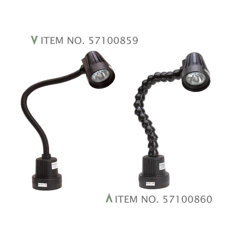 FLEXIBLE ARM HALOGEN LAMPS W/ MAGNETIC BASE