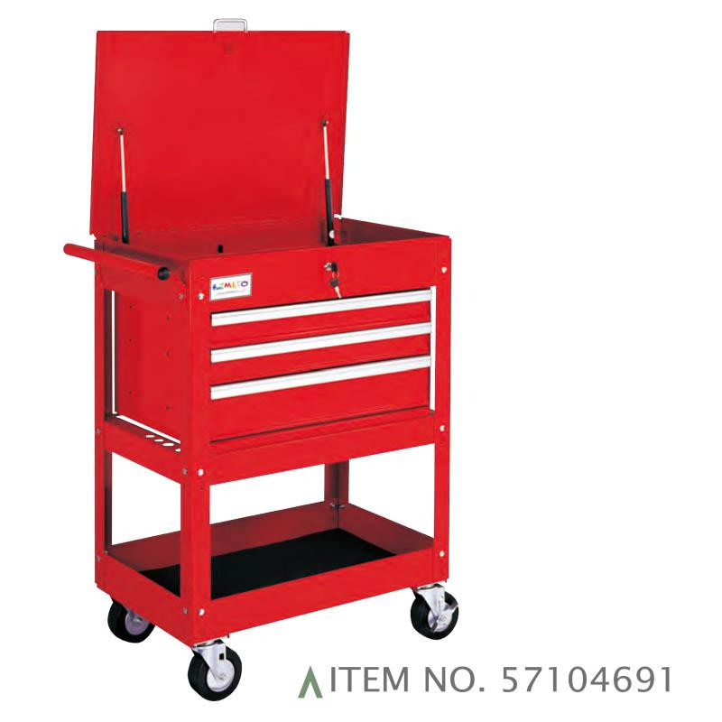 3-DRAWER SERVICE CART BALL BEARING SLIDES