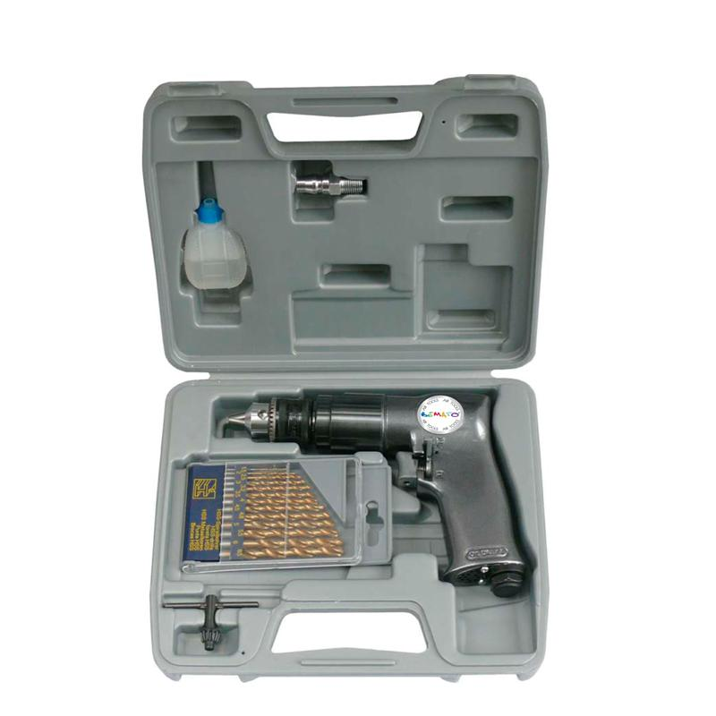 "3/8"" REVERSIBLE AIR DRILL KIT (18PCS)"