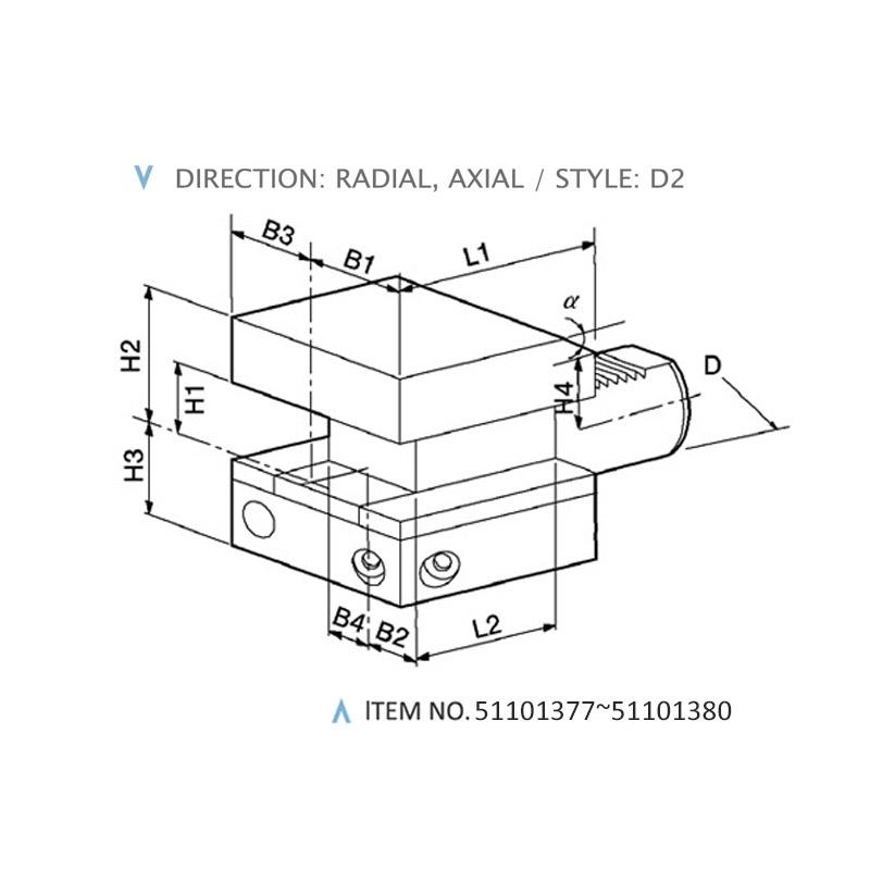 DIN 69880 COMBINED STATIC HOLDERS (STYLE: D2)