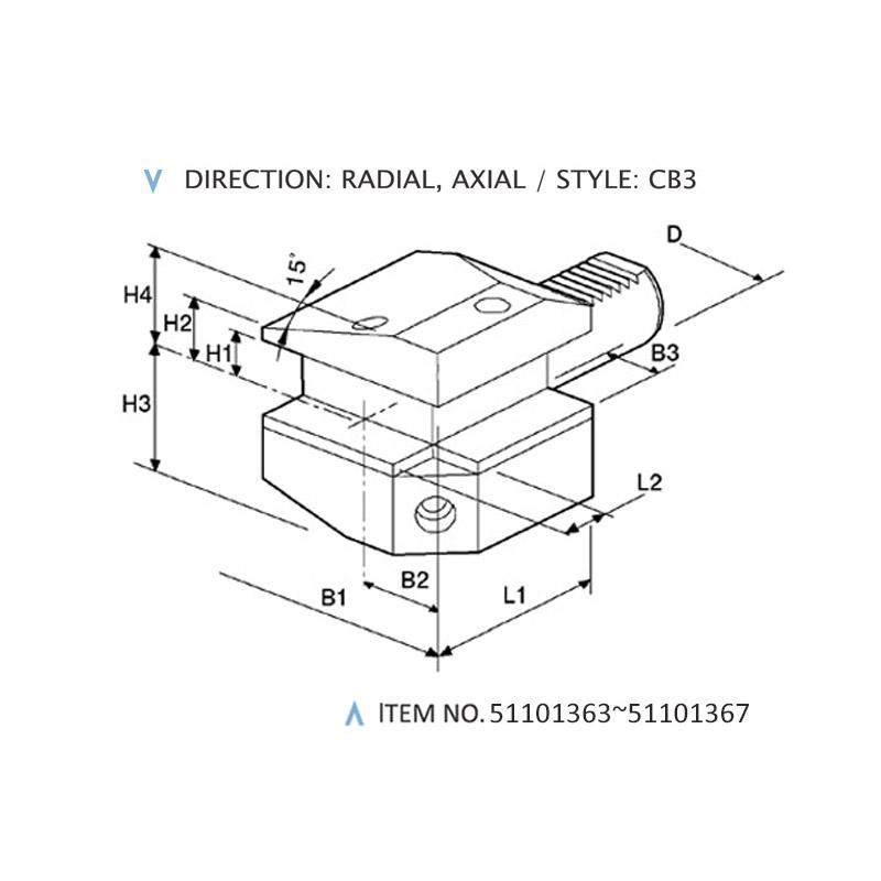 DIN 69880 COMBINED STATIC HOLDERS (STYLE: CB3)