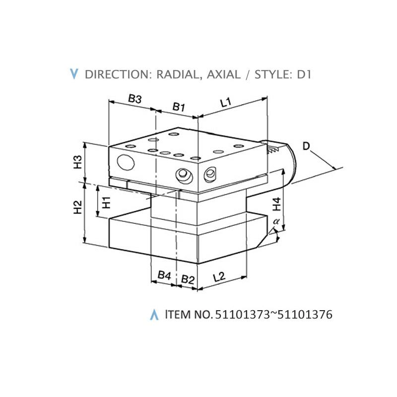 DIN 69880 COMBINED STATIC HOLDERS (STYLE: D1)