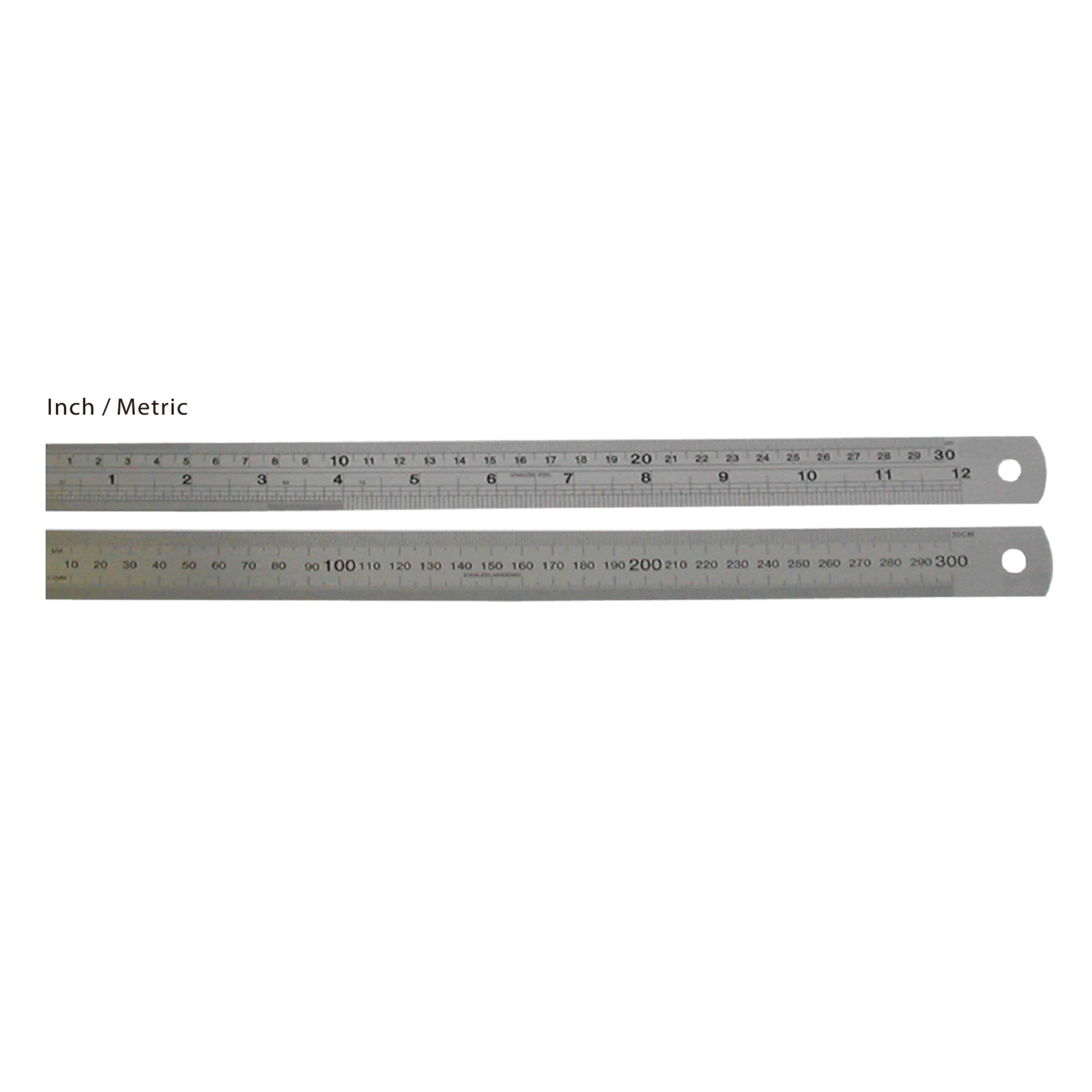 STANDARD SERIES STAINLESS STEEL STRAIGHT RULERS