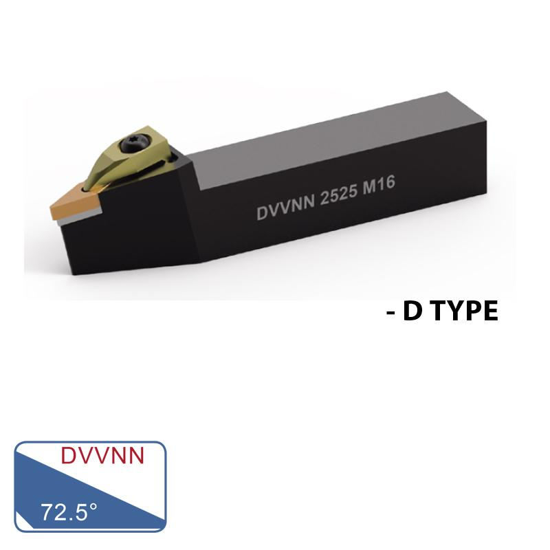 EXTERNAL TURNING TOOLS (DVVNN 72.5°- D TYPE)