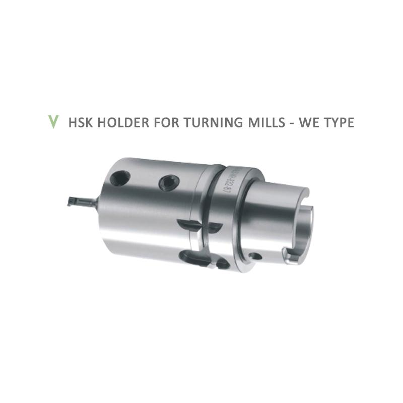 HSK HOLDER FOR TURNING MILLS - WE TYPE
