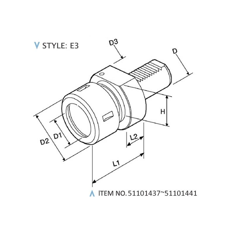 DIN 69880 STATIC HOLDERS (STYLE: E3)