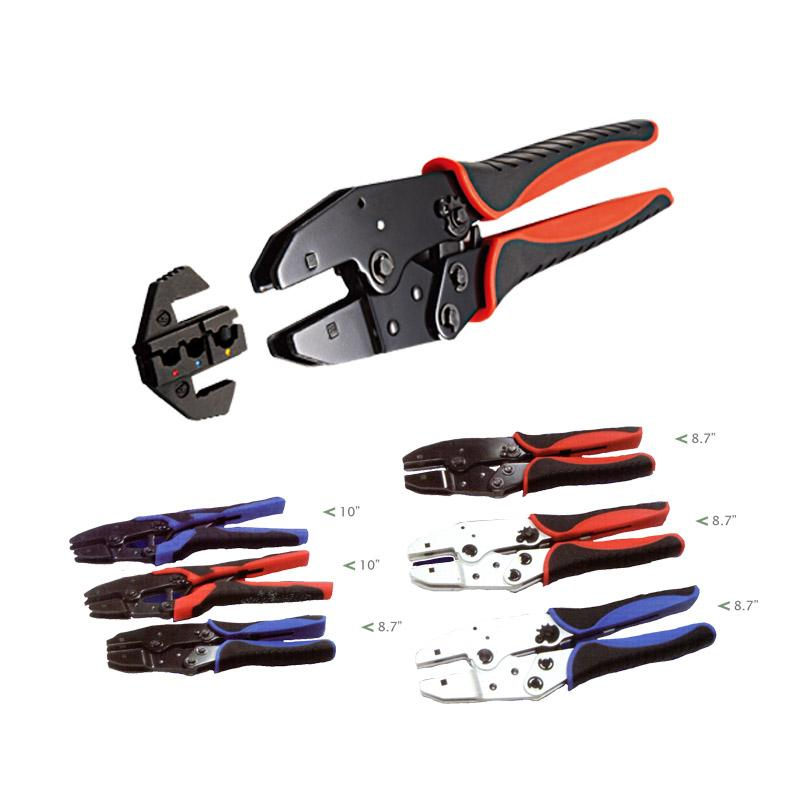 QUICKLY INTERCHANGEABLE CRIMPING TOOLS