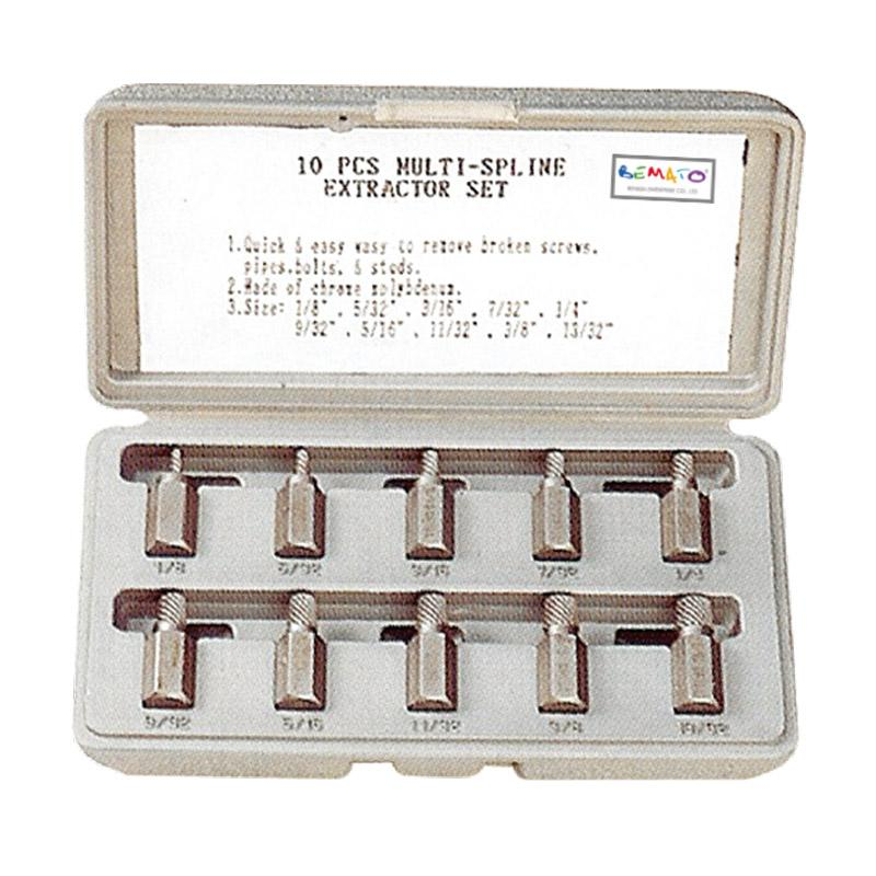 HAND TOOLS - 10PCS MULTI-SPLINE EXTRACTOR SET