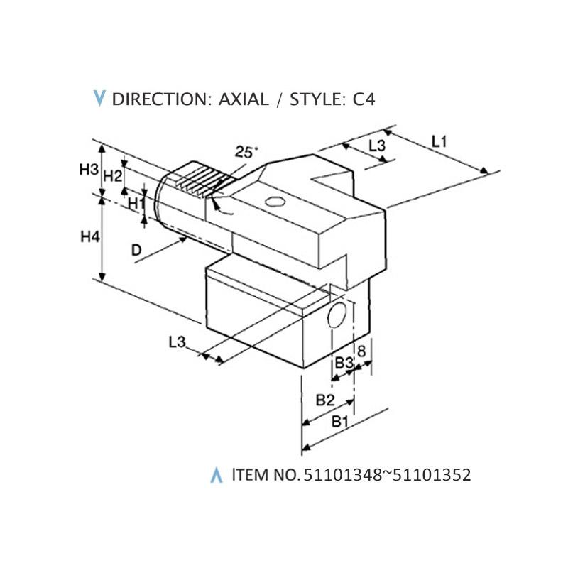 DIN 69880 AXIAL STATIC HOLDERS (STYLE: C4)
