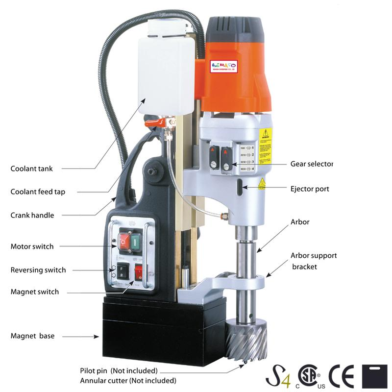 4 SPEED SWIVEL BASE MAGNETIC DRILLING MACHINE
