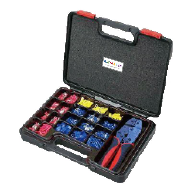 1001PCS INSULATED TERMINALS AND HEAVY-DUTY RATCHET CRIMPING TOOL KIT