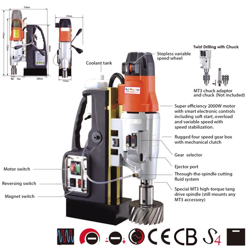 4 SPEED MAGNETIC DRILLING MACHINE