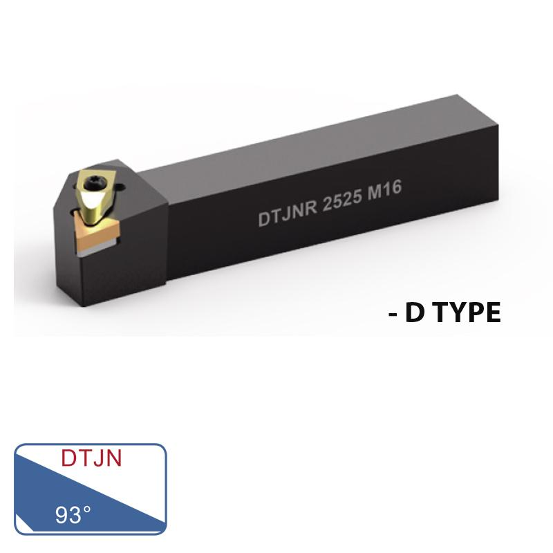 EXTERNAL TURNING TOOLS (DTJN 93°- D TYPE)