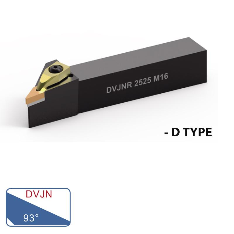 EXTERNAL TURNING TOOLS (DVJN 93°- D TYPE)