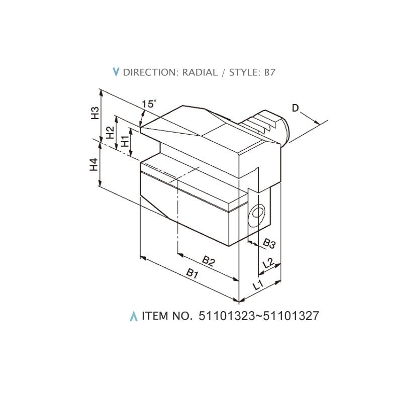 DIN 69880 RADIAL STATIC HOLDERS (STYLE: B7)
