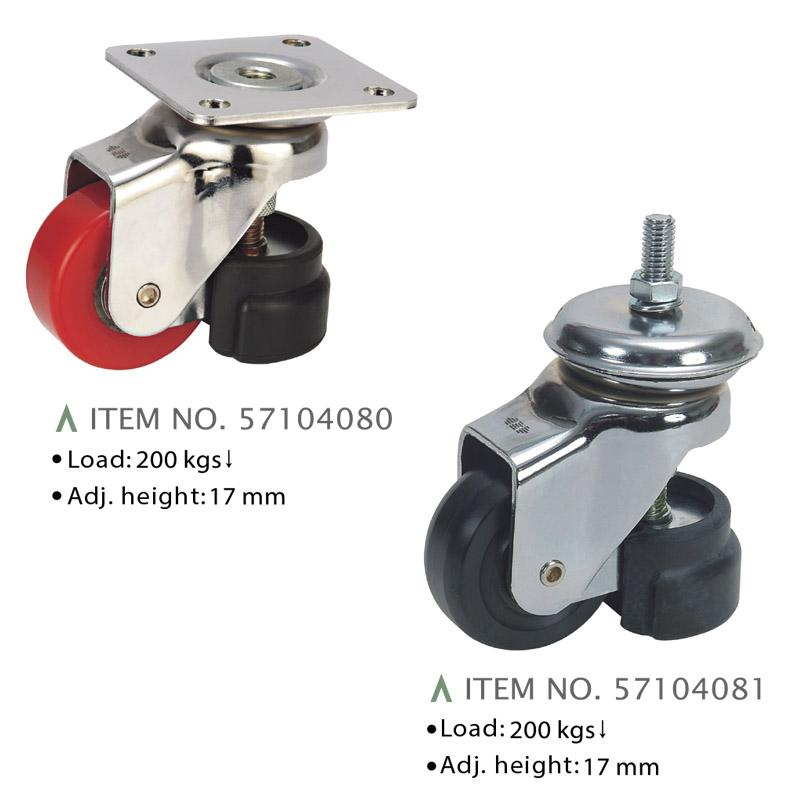 HEAVY LOAD CASTERS WITH ADJUSTER (200 KGS UNDER)