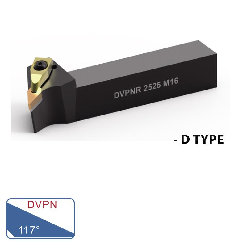 EXTERNAL TURNING TOOLS (DVPN 117°- D TYPE)