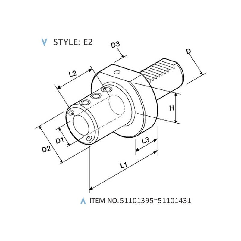 DIN 69880 STATIC HOLDERS (STYLE: E2)