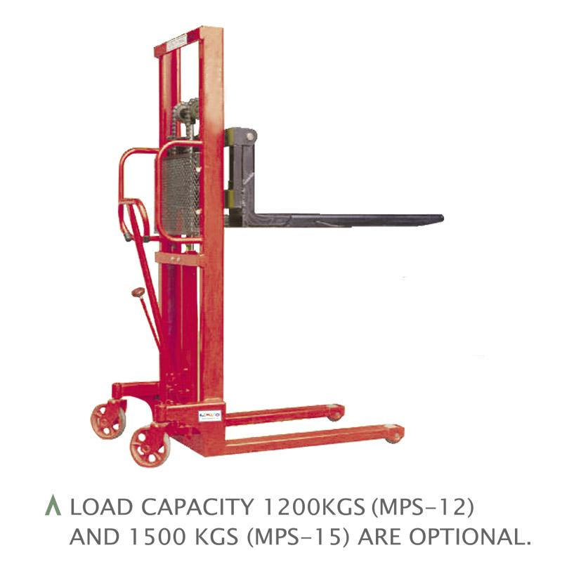 MANUAL PALLET STACKERS (1 TON / 1.2 TONS/ 1.5 TONS) (MPS-10/12/15/10W/12W/15W)