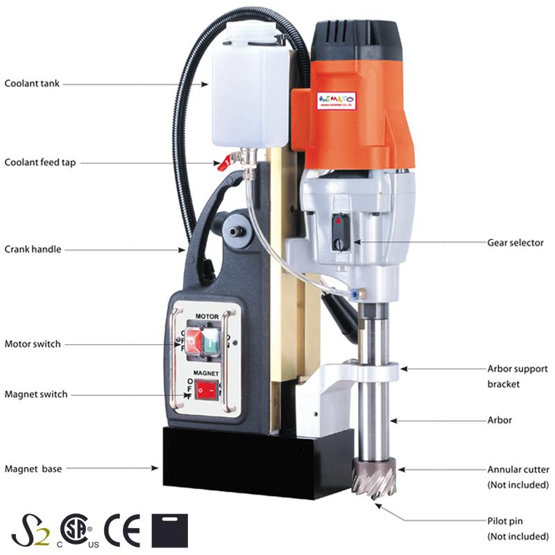 2 SPEED MAGNETIC DRILLING MACHINE