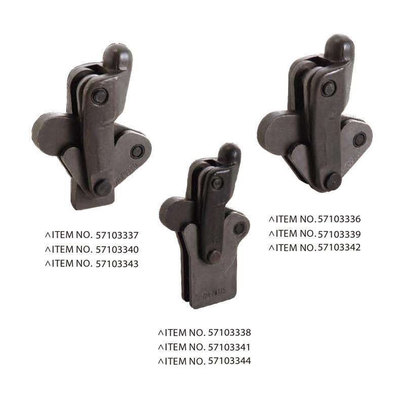 HEAVY DUTY WELDABLE TOGGLE CLAMPS
