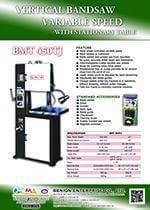 Vertical Bandsaw Variable Speed - BMT 450TJ
